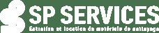 Logo SP MAT blanc